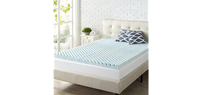 Zinus 3 Inch Swirl Gel - Memory Foam Mattress Topper
