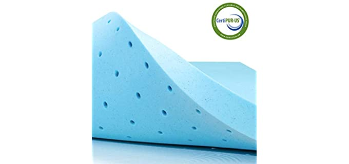 subrtex 2 Inch Gel-Infused - Memory Foam Mattress Topper