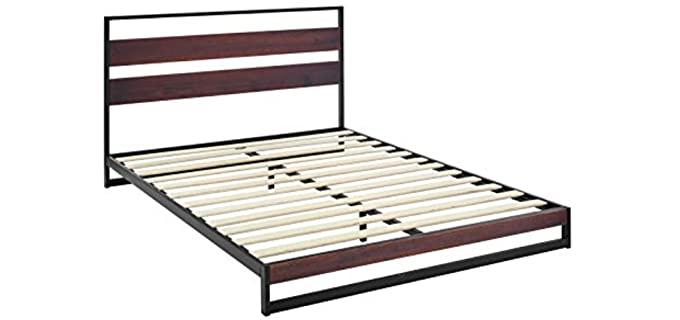 AmazonBasics Aurora - Wooden Slat Bed Frame