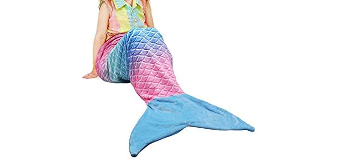 Catalonia Store Plush - Mermaid Tail Blanket