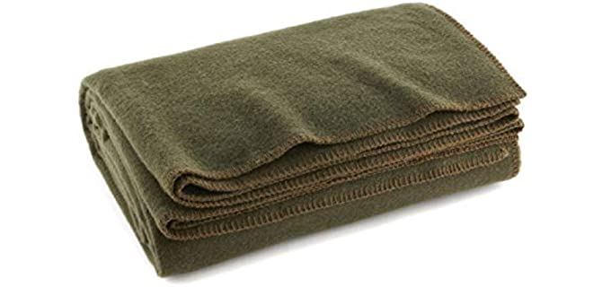 Ever Ready First Aid Olive Drab - Warm Wool Blanket