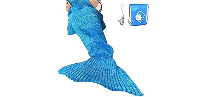 LAGHCAT Crochet - Mermaid Tail Blanket