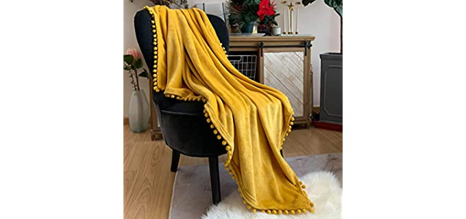 LOMAO Flannel Fabric - Best Throw Blankets