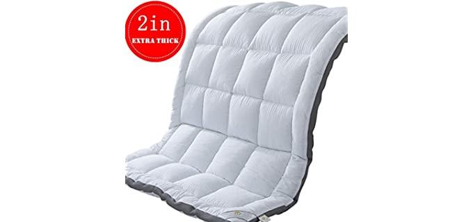 SUFUEE Plush - Sofa Bed Mattress Topper