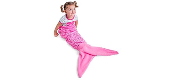 Vital Tiger Pink - Mermaid Tail Blanket