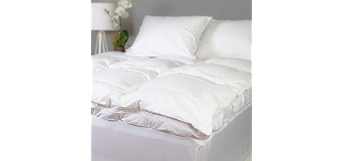 Allied Essentials Twin XL - White Goose Down Mattress Topper