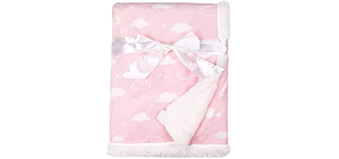 American Baby Cloud Pink - Soft Chenille Baby Blankets