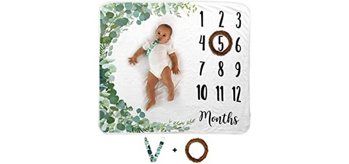 Novo Baby Milestone - Organic Baby Blankets