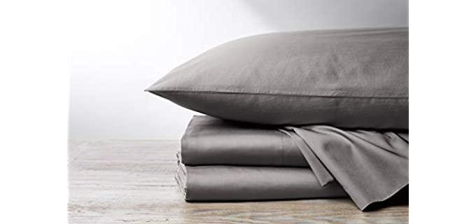 Coyuchi Twin - Grey Best Organic Sheets
