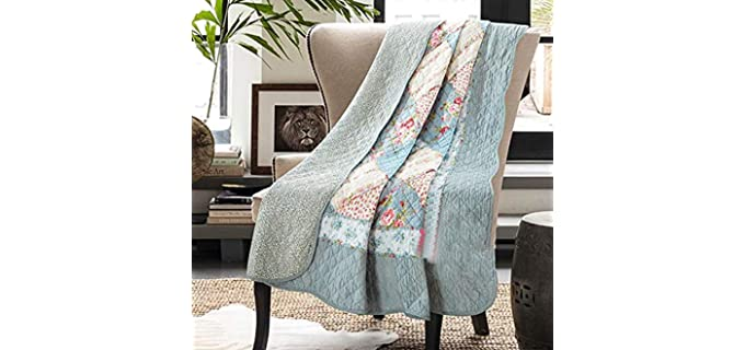 Cozyholy Twin Bed - Cotton Quilted Throw Blankets