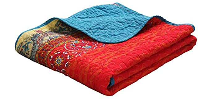 Exclusivo Mezcla Boho - Striped Quilted Throw Blankets