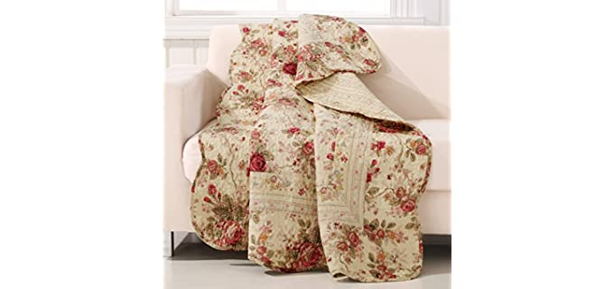 Greenland Home Antique - Rose Quilted Throw Blankets