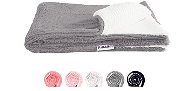 Plush Bebe Ivory - Fuzzy Chenille Baby Blankets