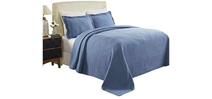 Blue Nile Mills Cotton Jacquard - Quilted Bedspread