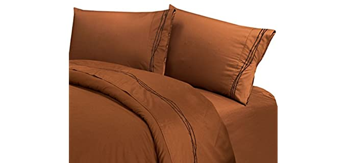 HiEnd Accents Barbwire - Copper Infused Bed Sheet