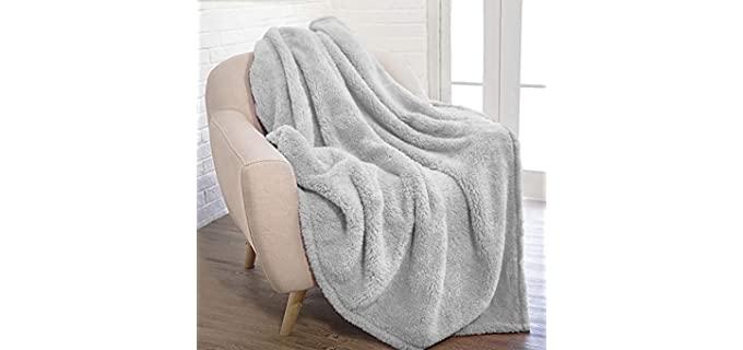 Pavilia Plush Sherpa - Fuzzy Blanket