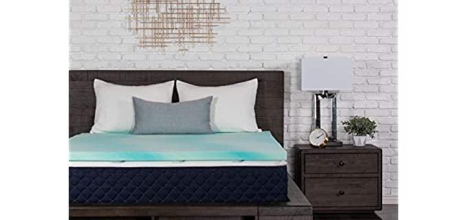 Dreamfoam Bedding Gel Swirl Foam - Cooling Memory Foam Lower Back Pain Relief Topper