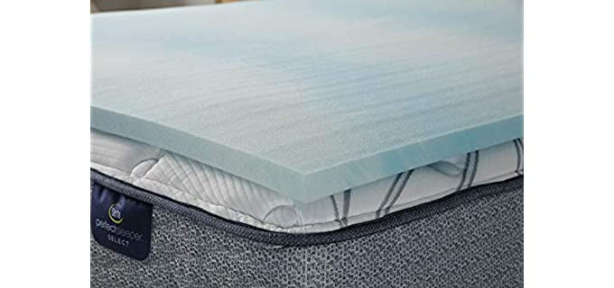 Serta Comfort Cool - Gel Memory Foam Mattress Topper