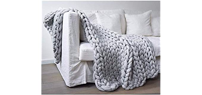 FFXN Geometric Pattern - Merino Wool Blanket