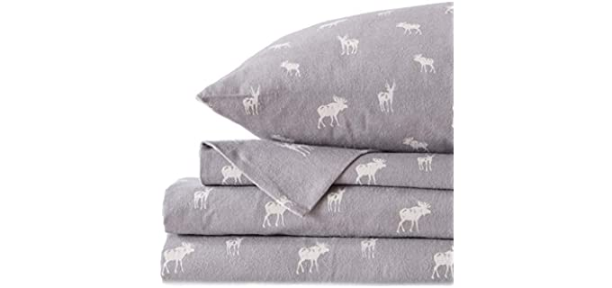 Great Bay Home Twin - Printed Flannel Sheets
