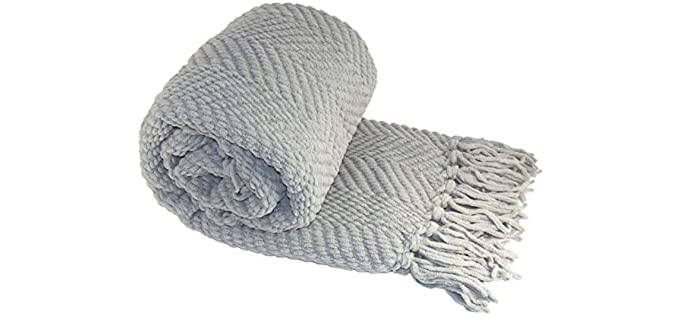 Home Soft Things Tweed - Striped Knitted Blanket