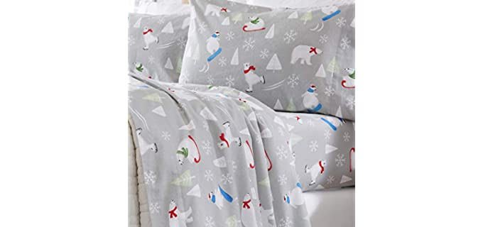 Home Fashion Designs King - Winter Flannel Sheets