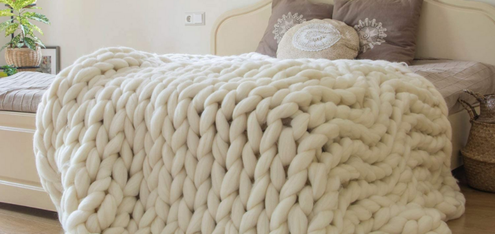 Merino Wool Knitted Blankets
