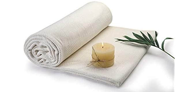 Terra Thread Home Herringbone - Organic Lightweight Blanket