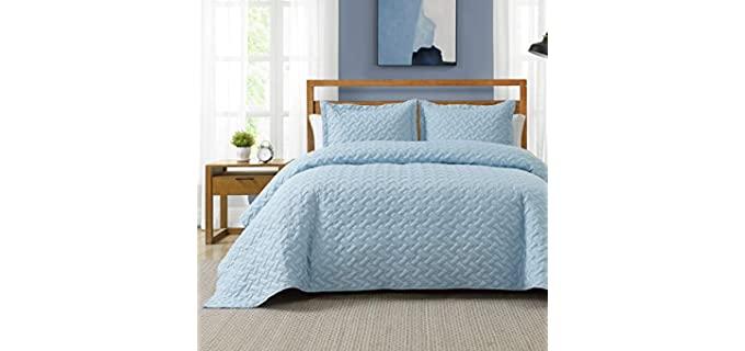 Bedsure Queen - Blue Polyester Bedspread