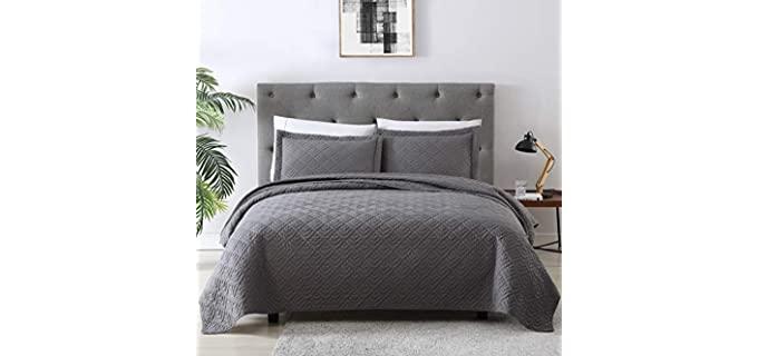 EXQ Home Full & Queen - Grey Luxury Bedspreads