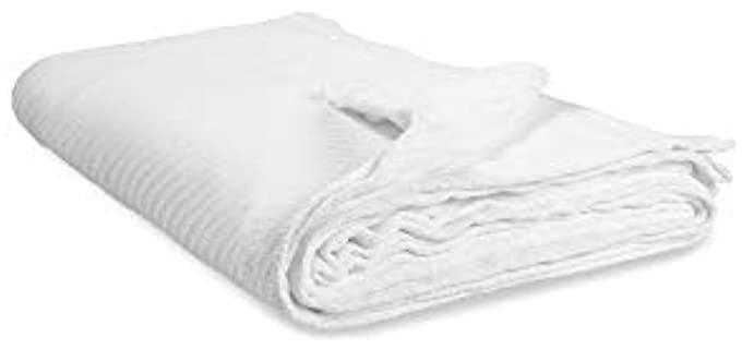 Elite Home  GOTS Certified - White Organic Blanket