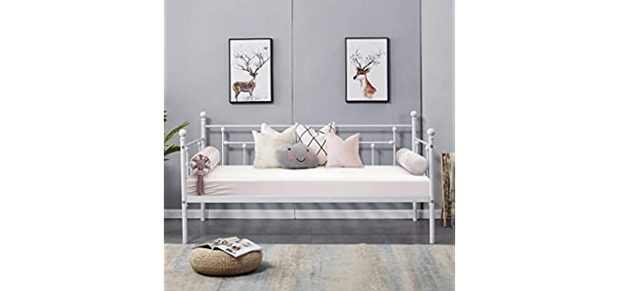 VECELO Twin Size - Headboard Style Adult Daybed
