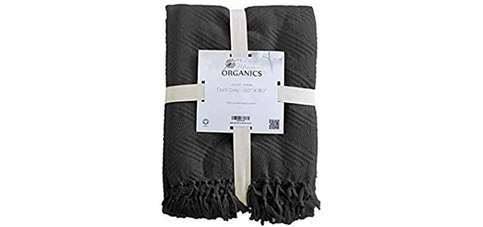 Whisper Organics Diamond Jacquard - Cooling Blanket