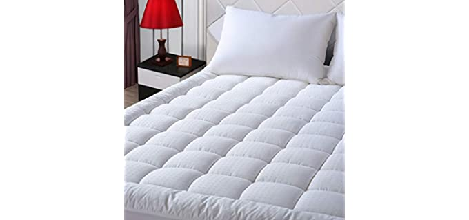 EASELAND Queen - Quilted Cotton Mattress Pad