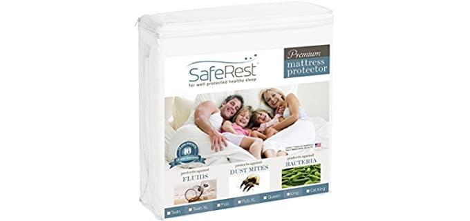 SafeRest Queen - Hypoallergenic Cotton Mattress Pad