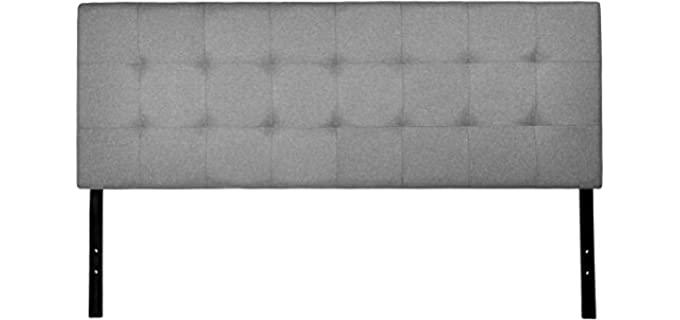 Amazon Basics Queen - Faux Linen Upholstered Headboard