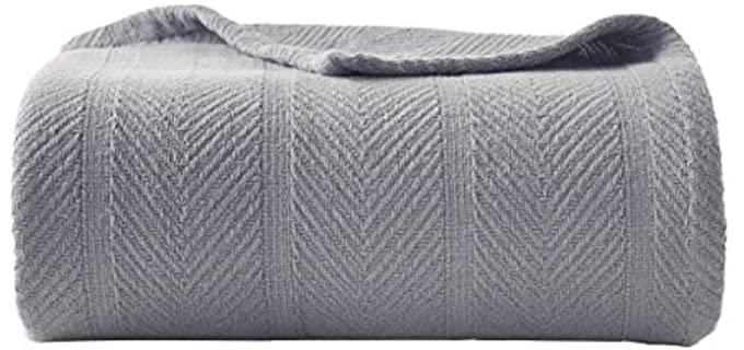 Eddie Bauer Herringbone - Cotton Blanket