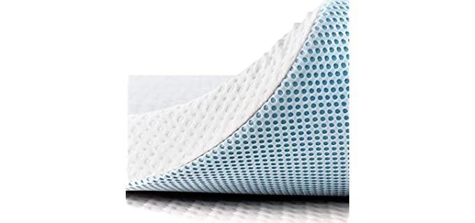 SUBRTEX Ergonomic - Cool Memory Foam Mattress Topper
